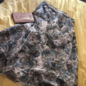 Aventura blue & white floral maxi skirt